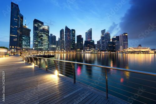 Foto op Aluminium Singapore Singapore city in sunset time