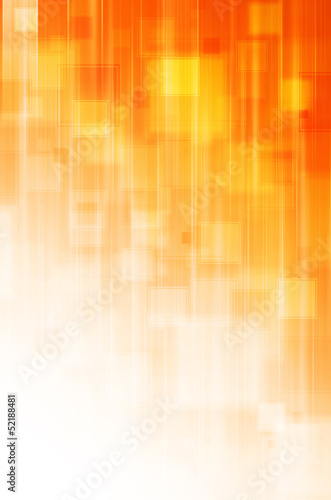 abstract orange square background Canvas Print