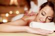 Leinwanddruck Bild - Massage
