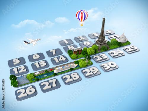 Poster Oceanië traveling to Paris.