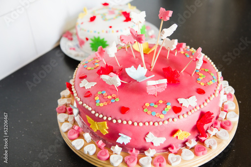 Marzipan Cakes For A Birthday Party