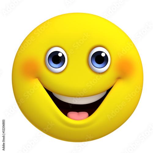 Foto op Aluminium Sweet Monsters 3d cartoon cute yellow ball