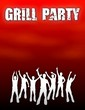 canvas print picture - plakat grillparty rot I