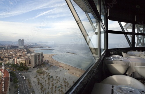 Photo  barcelona skyline view