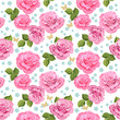 Flower texture with roses seamless
