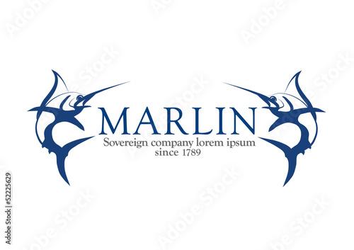 Photo  Marlin logo, swordfish logotype