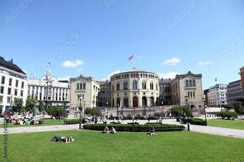 Photo  The Parliament Building, Oslo, Norway