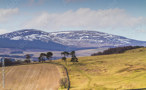 Foto auf Gartenposter Hugel Cheviot Hills, Northumbria, UK