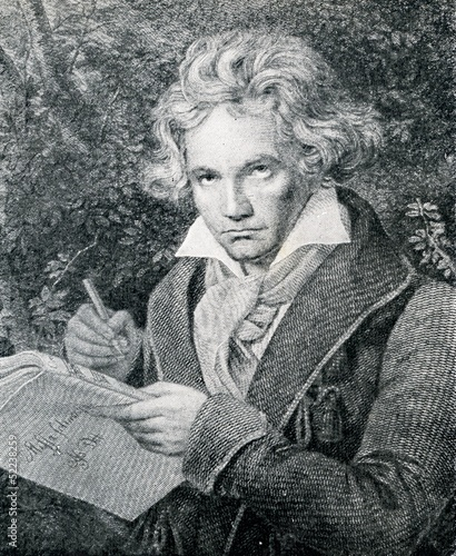 Portrait of german composer Beethoven Canvas Print