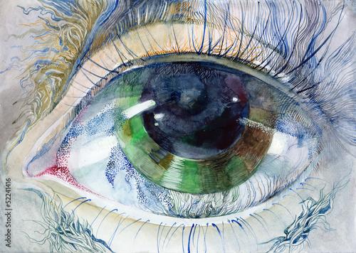 malowane-kolorowe-piekne-oko