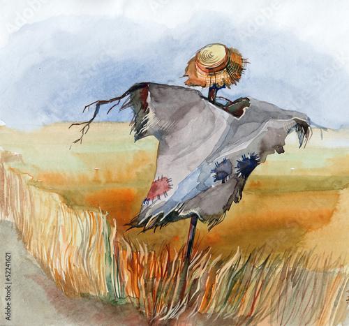 Nowoczesny obraz na płótnie scarecrow