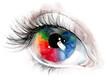 colourful human eye
