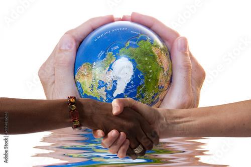 Fotografie, Obraz  Terra e umanità da salvare