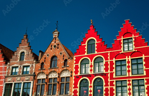 In de dag Brugge Colorful houses in Bruges, Belgium
