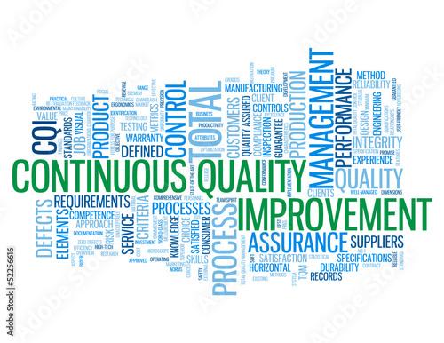 continuous quality improvement tag cloud process improvement
