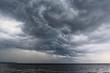 canvas print picture - Ein Unwetter an der Ostseeküste.