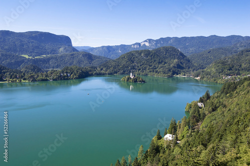 Photo Stands Caribbean Lake Bled Slovenia