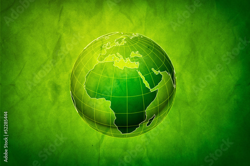 Green Earth concept, abstract grungy backgrounds with cardboard