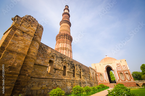 Foto auf Gartenposter Delhi qutub minar