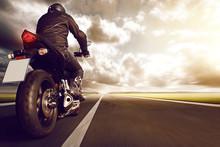Motorbike On Highway