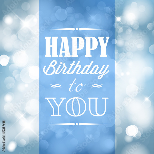 Photo  Happy birthday retro vector illustration