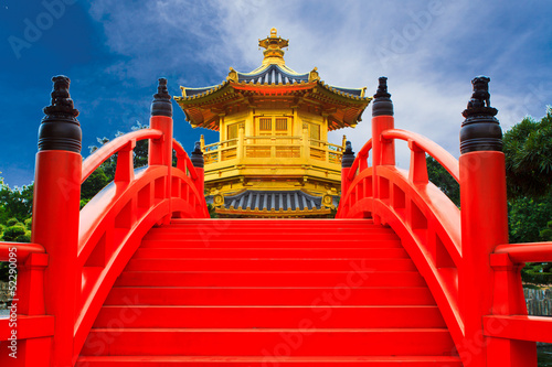 Photo sur Toile Rouge Chi lin Nunnery, Hong Kong