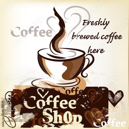 kawiarnia-plakat-w-stylu-vintage-grunge-z-kubkiem-swiezo