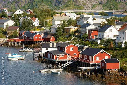 Poster Natuur Fishing Village