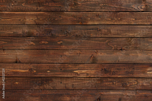 close up of wall made of wooden planks - 52327231
