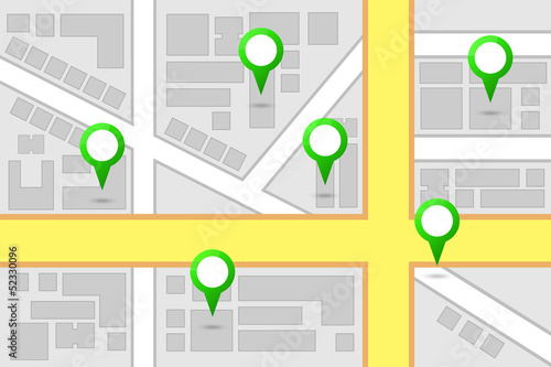 Valokuva  Map Interest Points
