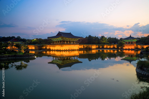 Fotografía  Anapji Pond in Gyeongju, South Korea
