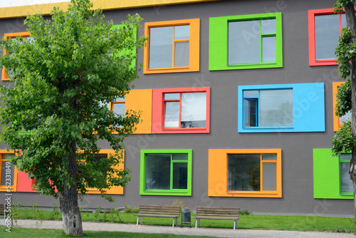 colorful facade of the school of arts