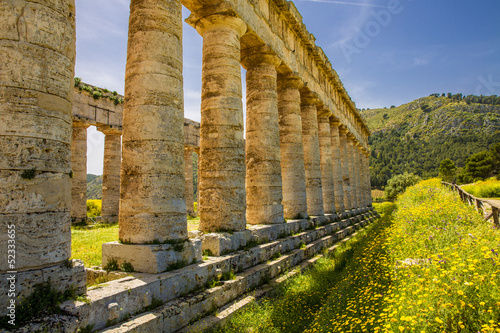 Fotografie, Obraz  Säulen des Tempels von Segesta, Sizilien