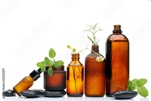 Fotografia  Spa scene with natural cosmetics