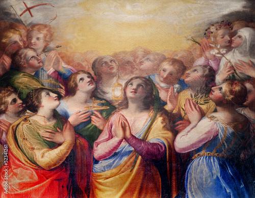 La pose en embrasure Palerme Palermo - Paint of early Christian martyrish - chiesa del Gesu