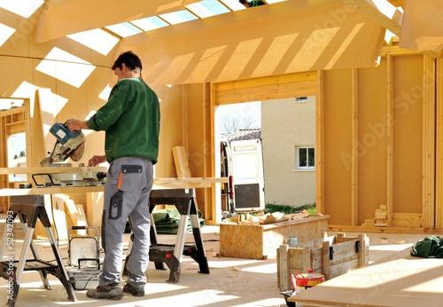 фотография  construction bois