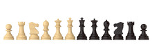 Chess Figures Set Black And White