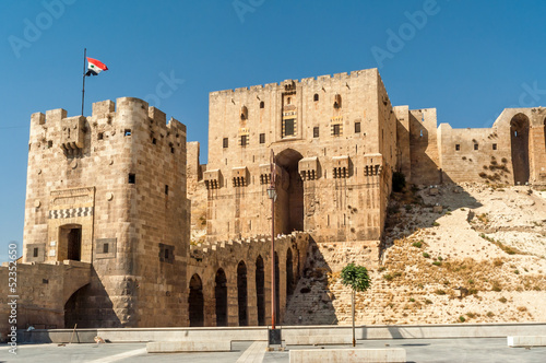 Fotografie, Tablou Entrance to The Aleppo Citadel