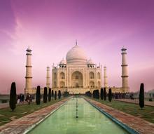 Taj Mahal On Sunset, Agra, India