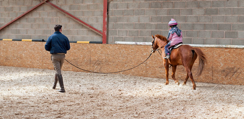 Lunging lesson