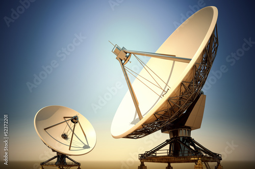 Photo Satellite dishes.