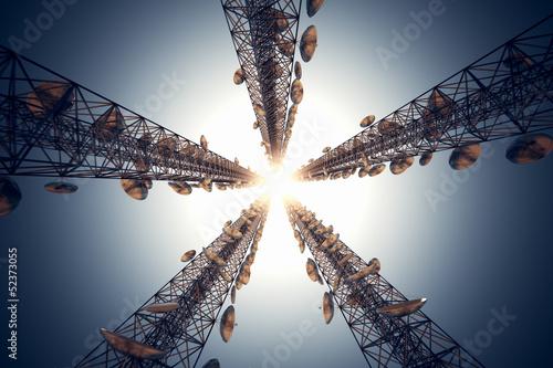 Fényképezés  Communication towers.