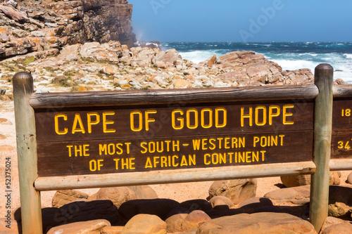 Valokuvatapetti Hinweistafel am Kap der guten Hoffnung