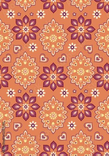 pomaranczowy-bandana-bezszwowe-tlo-wektor