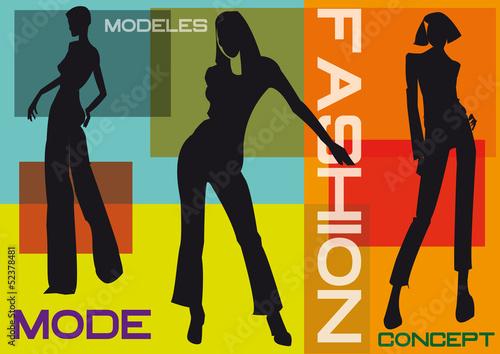 Fotografie, Obraz  mode,défilé,mannequin,prêt-à-porter,collection,vêtement