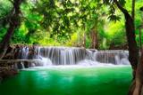Fototapeta Landscape - Thailand waterfall in Kanjanaburi