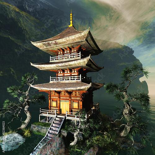 zen-buddyjska-swiatynia-w-gorach
