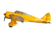 Old Classic Yellow Plane Isola...