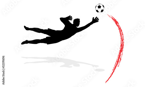 Goalkeeper In Action (4/12) Fototapete