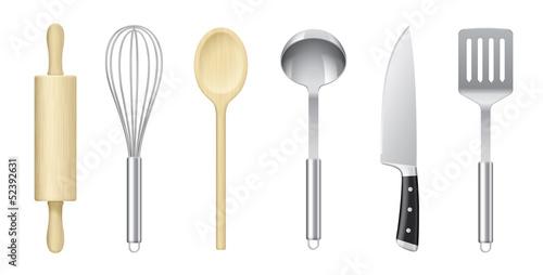 Fotografie, Obraz  Ustensiles de cuisine vectoriels 1